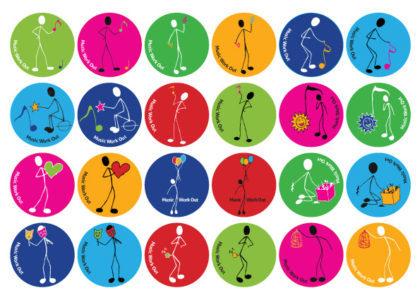 Klistermærker Den lille Nodemand af Music Work Out - Musikteori, spil, musikbøger og hørelære