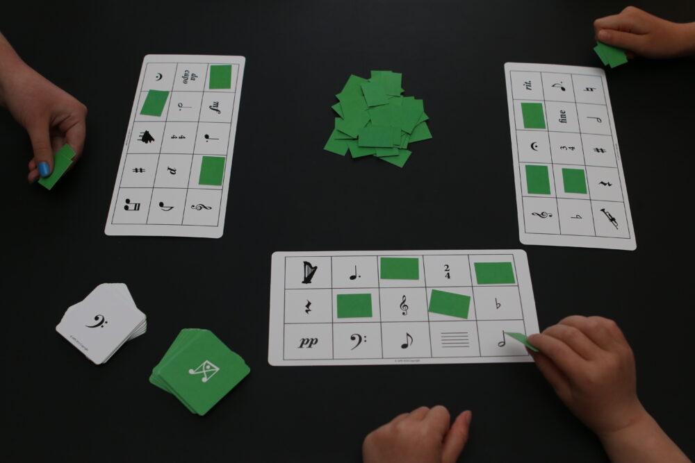 Bingo Game fra Games Edition - Music Work Out - Musikteori, spil, musikbøger og hørelære